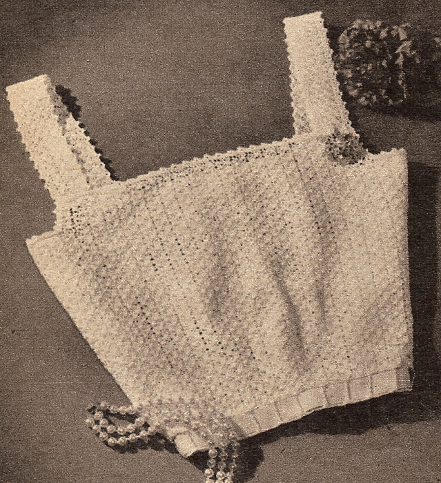 Vintage Crochet PATTERN to make: Shell Stitch Camisole / Summer Blouse.