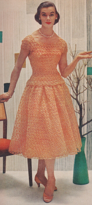 Vintage Crochet PATTERN to make Star Stitch Lace Formal Evening Dress ...