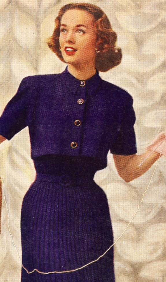 Vintage Knitting Pattern Dress Bolero Shortie Jacket Ebay