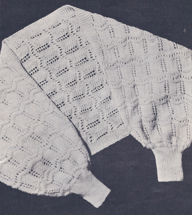 Vintage Knitting PATTERN to make Shoulderette Shrug Bed Jacket Sweater